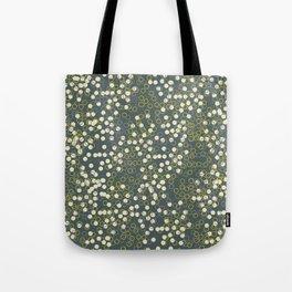 Dots and Rings-Grey Tote Bag