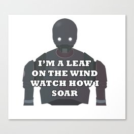 Leaf Droid Canvas Print