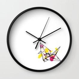 Origami Crane Explosion Wall Clock
