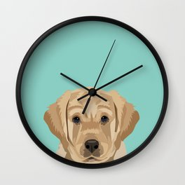 Labrador puppy pet portrait wall art and gifts for dog breed lovers Wall Clock