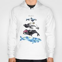 whales Hoodies featuring Whales by Amee Cherie Piek