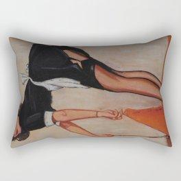 Pinup - Sweeping Maid Rectangular Pillow