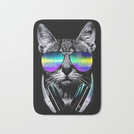 Dj Cat Bath Mat
