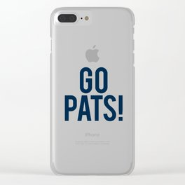 Go Pats! Clear iPhone Case