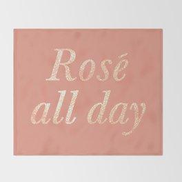 Rosé All Day Throw Blanket
