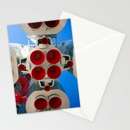 Vintage Spaceship Rocket-Motor Nozzles Stationery Cards