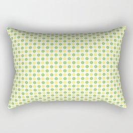 Yellow Lemon Green Fruit Pattern Rectangular Pillow