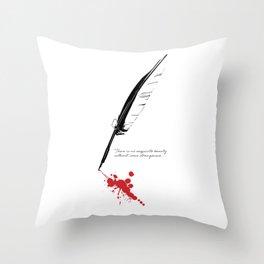 Edgar Allan Poe - Strangeness Throw Pillow