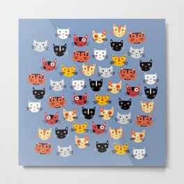 Multiple Cats Metal Print
