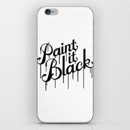 Paint it Black iPhone Skin