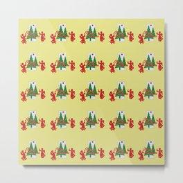 Christmas Tree Angel yellow Metal Print