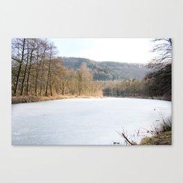 Frozen lake in Germany Canvas Print