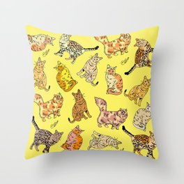 So many Cats and Kitties! Throw Pillow