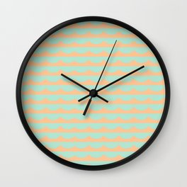 Peach Scallops Wall Clock