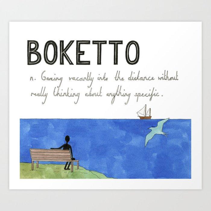 Boketto Art Print