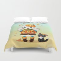 pumpkin Duvet Covers featuring Pumpkin 2 by Freeminds