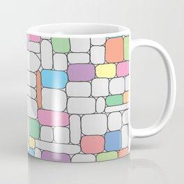 Pastel Stone Wall Coffee Mug