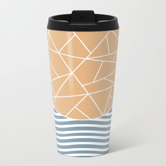 MAYBE THE SEA (abstract geometric) Metal Travel Mug