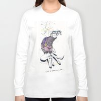 dog Long Sleeve T-shirts featuring Dog by Anion