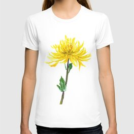one yellow chrysanthemum T-shirt