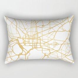 WASHINGTON D.C. DISTRICT OF COLUMBIA CITY STREET MAP ART Rectangular Pillow