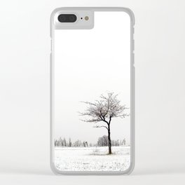 Black and White Clear iPhone Case
