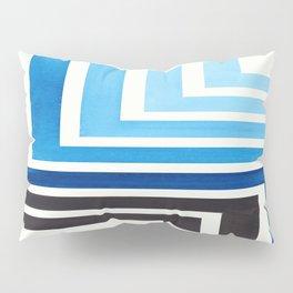 Prussian Blue Mid Century Modern Watercolor Colorful Ancient Aztec Art Pattern Minimalist Geometric Pillow Sham
