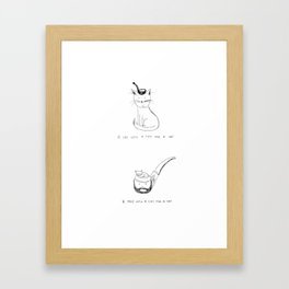 pipe cats! Framed Art Print
