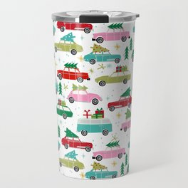 Christmas car tradition christmas trees holiday pattern winter festive Travel Mug