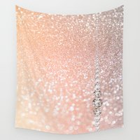 bisexual Wall Tapestries featuring Diamonds are girls best friends II by Better HOME