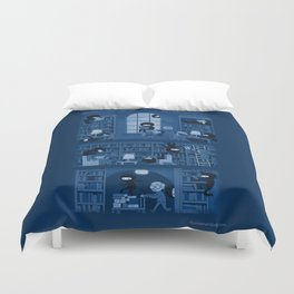 Silence in the Library Duvet Cover
