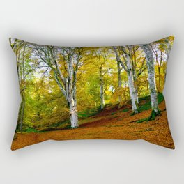 Autumn Trees Woodland Rectangular Pillow