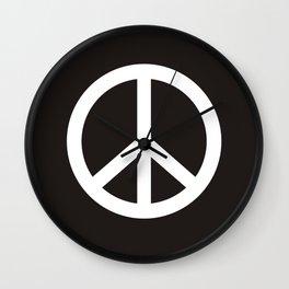 peace symbol flag sign Wall Clock