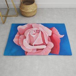 Perfume Delight - Pink Tea Rose Art Rug