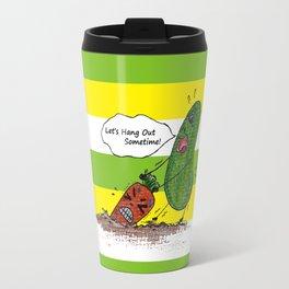 Vegetables' daily life on Planet V 01  Travel Mug