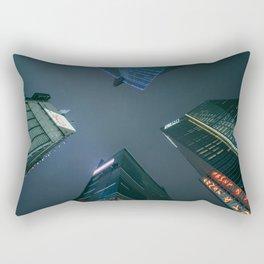 Night Sky and Skyscrapers Rectangular Pillow