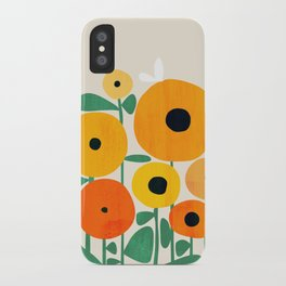 Sunflower and Bee iPhone Case