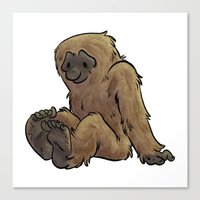 bigfoot Canvas Prints featuring Bigfoot by Savannah Horrocks