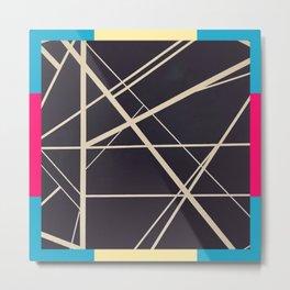 Crossroads - color frame Metal Print