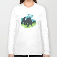 toothless Long Sleeve T-shirts featuring toothless by tsurime