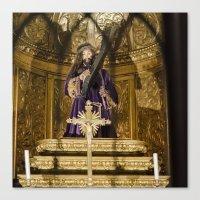 christ Canvas Prints featuring Christ by Sébastien BOUVIER