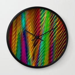 Feathers in Abstract Wall Clock