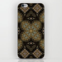 Victorian Art Deco Medieval Pattern brown SB24 iPhone Skin