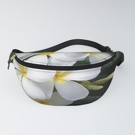 Wild Tropical Hawaiian Plumeria Flowers Fanny Pack
