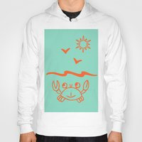 crab Hoodies featuring crab by gzm_guvenc