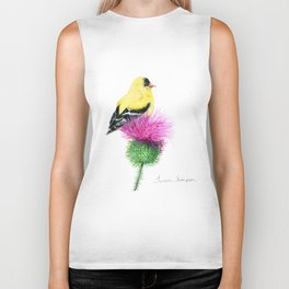 Little Goldfinch by Teresa Thompson Biker Tank