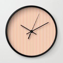 Classic Small Orange Soda French Mattress Ticking Double Stripes Wall Clock