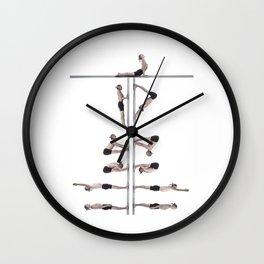 Surya Namaskar Wall Clock