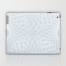 mathematical rotating roses - ice gray Laptop & iPad Skin
