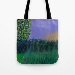 Backyard Sunrise Tote Bag